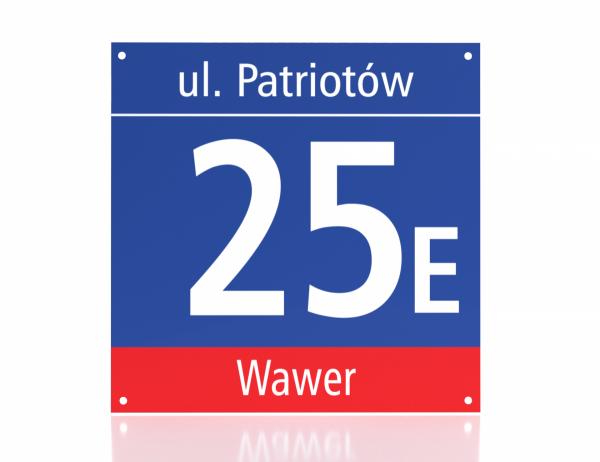 Tabliczka adresowa Warszawa 35cm x 35cm