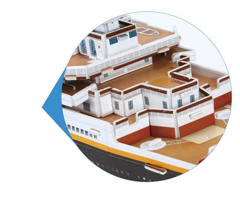 Puzzle 3D Titanic Duży