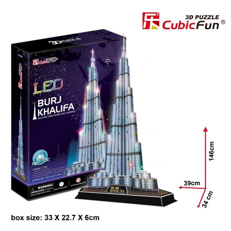 Puzzle 3D Burj Khalifa (Światło)