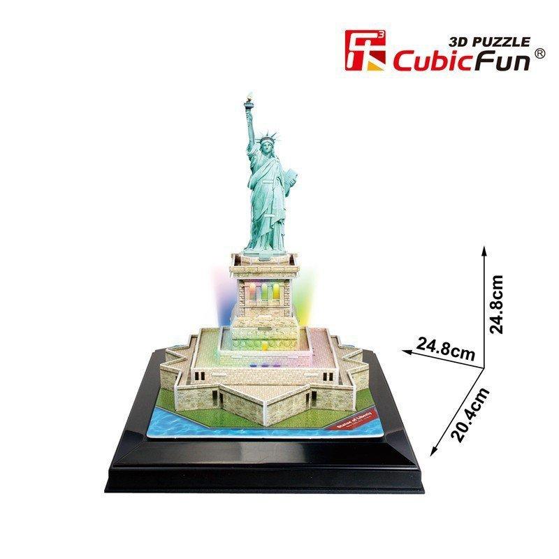 Puzzle 3D Statua Wolności (Światło)