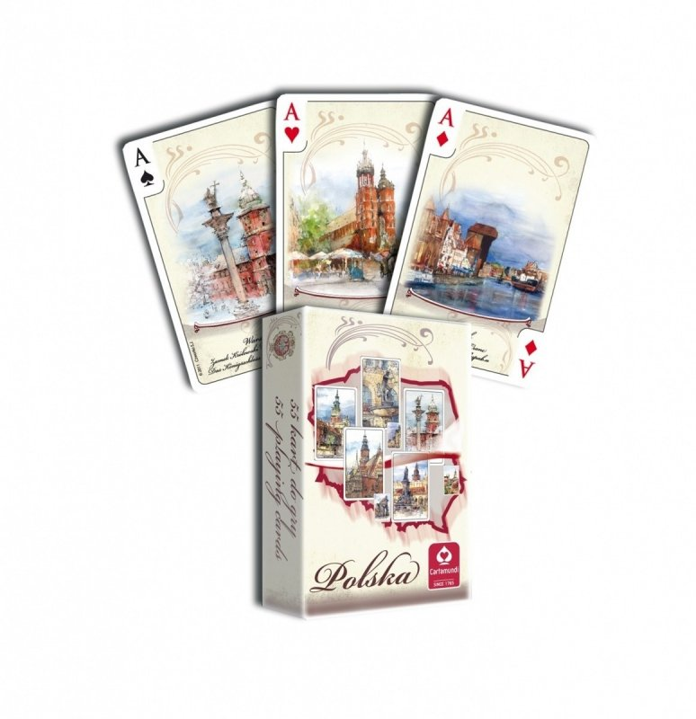 Karty Polska Akwarele 55 listków