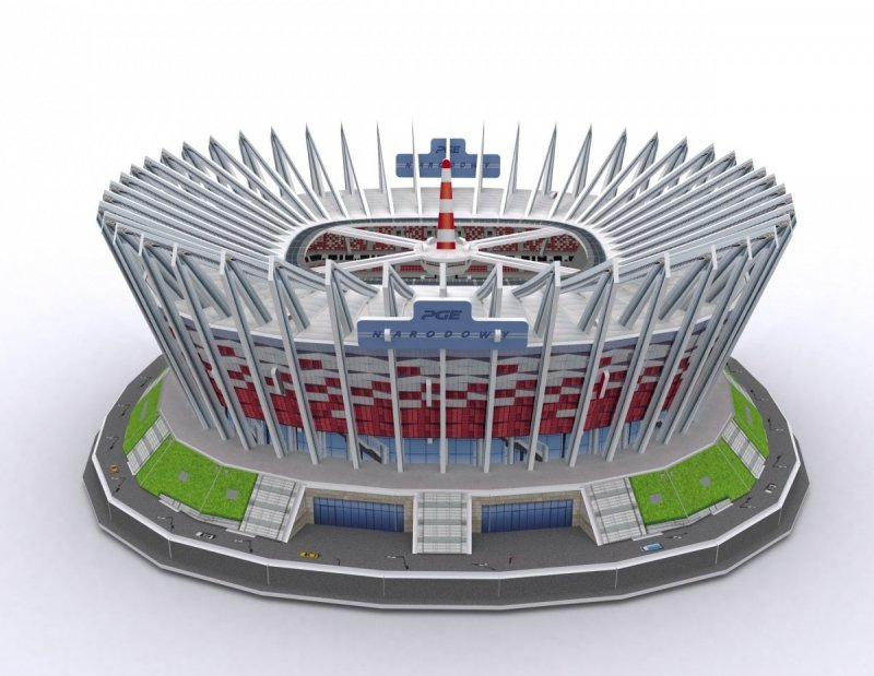 Puzzle 3D Stadion PGE Narodowy, 105 elementów
