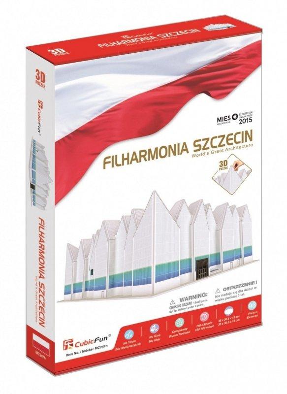 Puzzle 3D Filharmonia Szczecińska 98 elementów