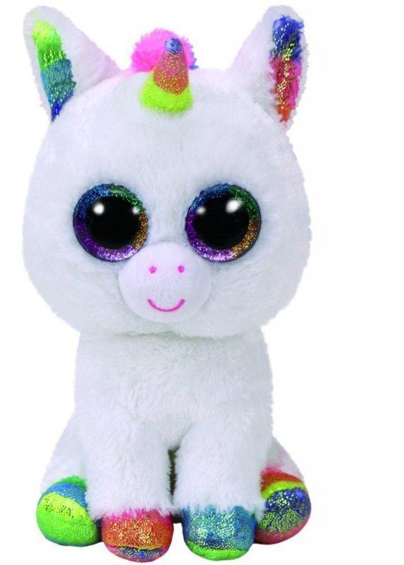 Maskotka TY Beanie Boos - biały jednorożec, Pixy 24 cm