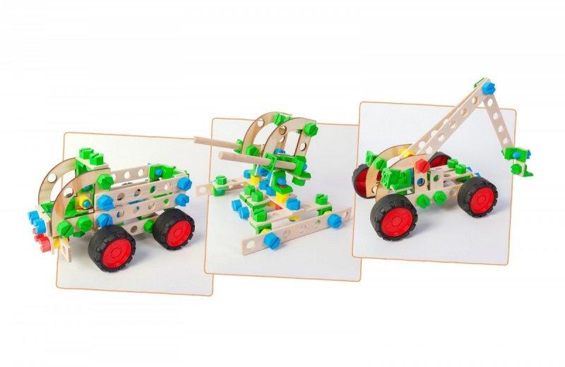 Zestaw konstrukcyjny Mały Konstruktor Junior 3w1 - Ciężarówka