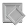 Talerz z trzciny cukrowej kwadratowy 15x15cm, 20x50szt