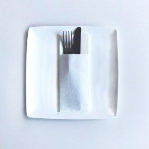 Serwetki papierowe z kieszonką wytłaczane 40×32cm GoGreen Premium białe, 40szt