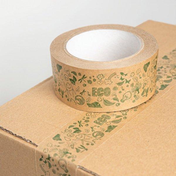 Taśma pakowa papierowa ECO 48mm/50m hot-melt, 1szt