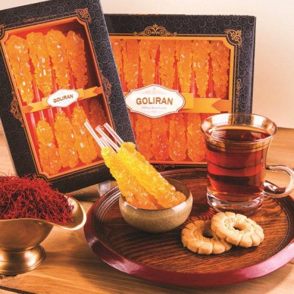 Cukier irański z szafranem Nabat Premium Saffron, 16szt