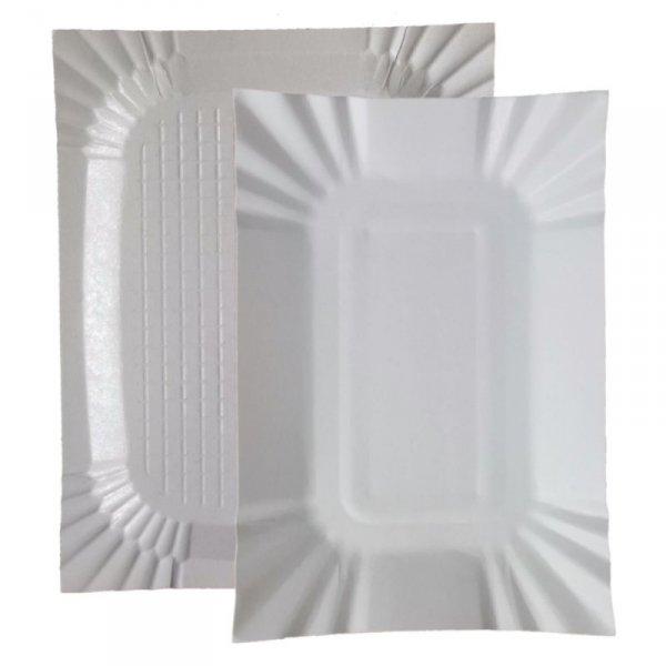 Tacka papierowa biała 18x24cm, 100szt