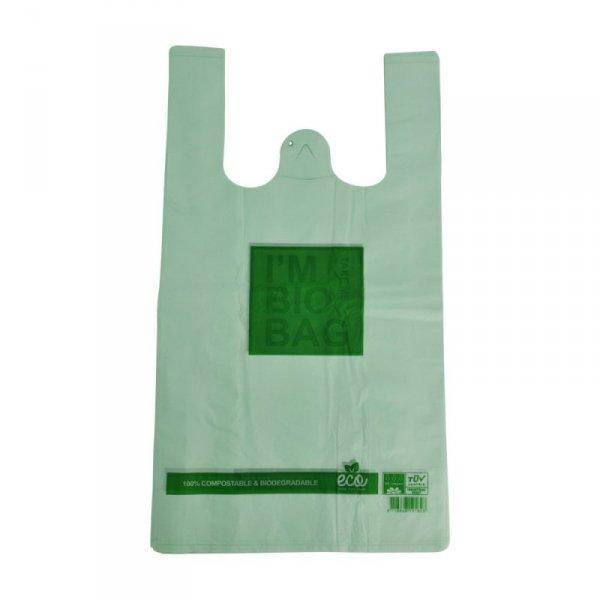 Torba sklepowa I'M BIO BAG zielona 30x55cm, 50szt