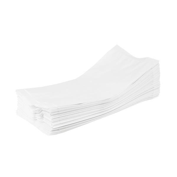 Torebka papierowa fałdowa biała 270x110x60mm, 1000szt