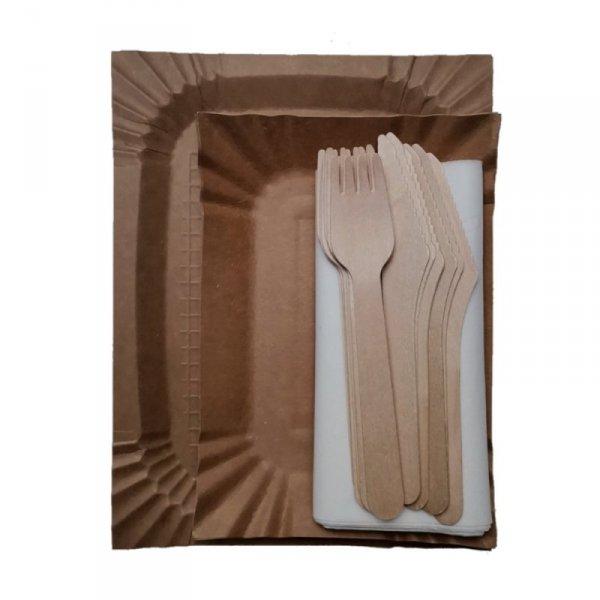 Serwetka gastronomiczna biała składana 33x33cm, 500szt