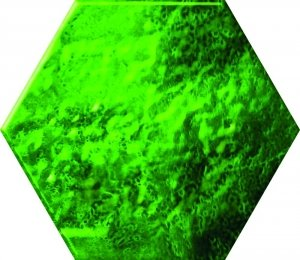 Ceramika Color Green Glass Hexagon 12,5x14