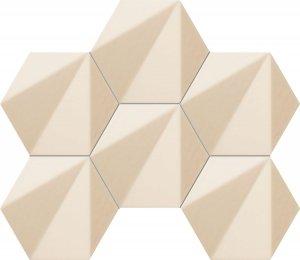 Tubądzin Chenille Beige Hex Mozaika 28,9x22,1