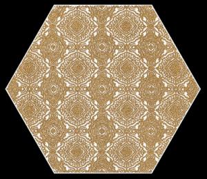 Paradyż Shiny Lines Gold Heksagon Inserto E 19,8x17,1