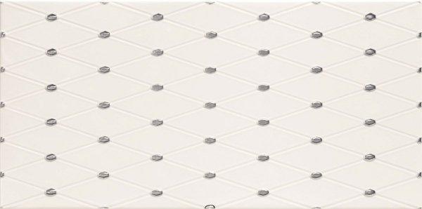 Domino Biel Point Dekor 22,3x44,8