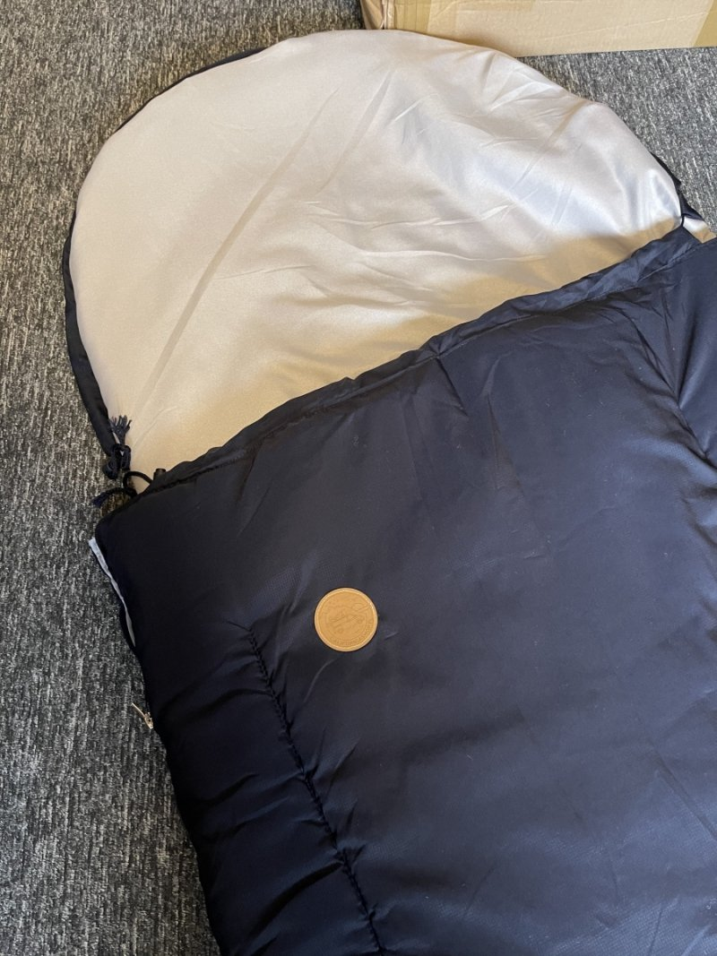 Top of sleeping bag