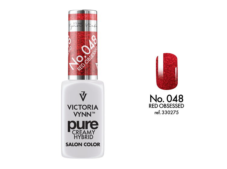 Kremowy Lakier Hybrydowy PURE kolor:  No 048 Red Obsessed