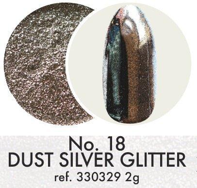 Pyłek dekoracyjny: Silver Glitter No.18
