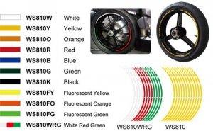REFLECTIVE STICKER KEITI WHITE/RED/GREEN