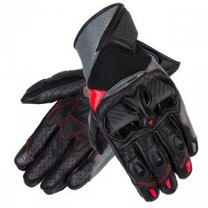RĘKAWICE SKÓRZANE REBELHORN FLUX II BLACK/GREY/FLO RED XL