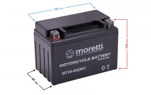 Akumulator AGM (Gel) MTX9-BS Moretti