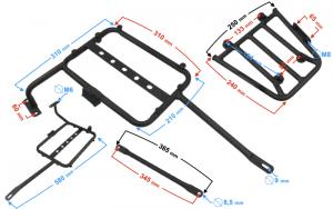 Mocowanie wsporniki kufrów kpl. Hyper 125