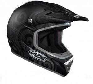 Kask motocyklowy LAZER MX7 Hurricane czarny/szary mat S