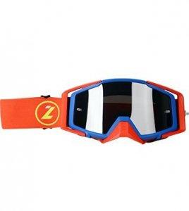LAZER Gogle - Race Style Mirror Blue - Red - Red (kol. Mirror Srebrny)