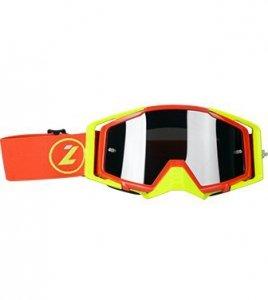 LAZER Gogle - Race Style Mirror Red - Yellow Fluo - Red (kol. Mirror Srebrny)