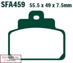 Klocki hamulcowe skuterowe EBC SFA459 (kpl. na 1 tarczę)