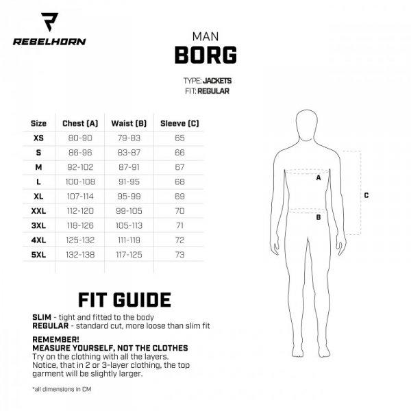 KURTKA TEKSTYLNA REBELHORN BORG BLACK/GREY/FLO YELLOW XL
