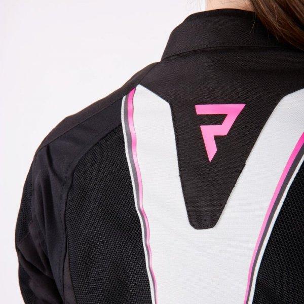 KURTKA TEKSTYLNA REBELHORN HIFLOW IV LADY BLACK/SILVER/FLO PINK D3XL