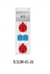 Rozdzielnica R-BOX SLIM 6S 2x32A/5p, 2x230V, IP44