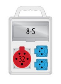 Rozdzielnica R-BOX SLIM 8S 1x32A/5p, 2x230V, IP44