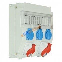 Rozdzielnica R-BOX LUX-320, 2x16A/5P, 3x230V, IP 44