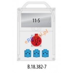 Rozdzielnica R-BOX 382R 11S 1x32A/5p, 3x230V, IP44