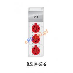 Rozdzielnica R-BOX SLIM 6S 3x16A/5p, zabezp. 2xM.01-B16/3, IP44