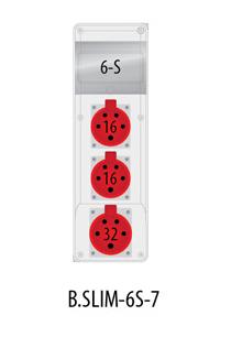 Rozdzielnica R-BOX SLIM 6S 2x16A/5p, 1x32A/5p, IP44