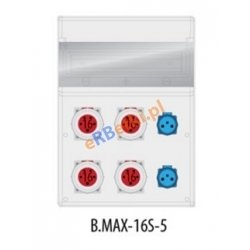Rozdzielnica MAX BOX-16S 4x16/5p, IP65