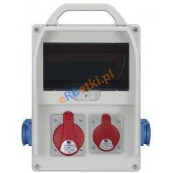 Rozdzielnica R-BOX 300R 9S, 1x32A/5p, 1x16A/5p, 2x230V/16A zab.różn.prąd C25/3, 2xB16/1, 4/40/0,03, IP44
