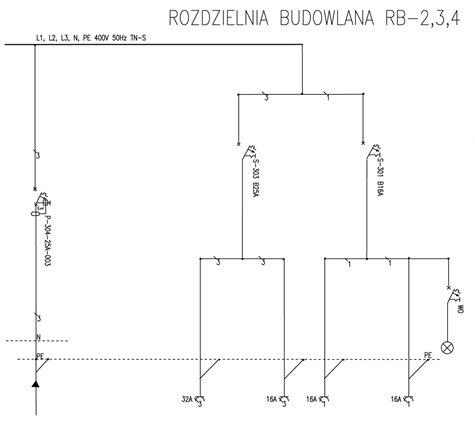 Rozdzielnica Budowlana RB-2 25A Rozdzielnia R-B