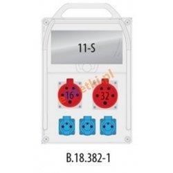 Rozdzielnica R-BOX 382R 11S1x16A/5p, 1x32A/5p, 3x230V zab.róż.prąd B32/3,B16/3,B16/1,4/40/0,03, IP44