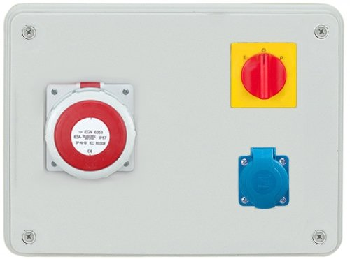 Rozdzielnica R-BOX 300 1x63A/5p, 1x230V, wył. (0/1), IP44