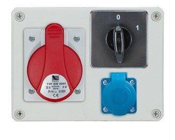 Rozdzielnica R-BOX 190 1x32A/5p, 1x230V, wył. (0/1), IP44
