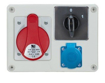 Rozdzielnica R-BOX 190 1x16A/4p, 1x230V, wył. (0/1), IP44