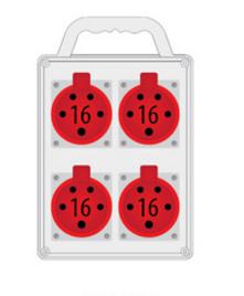 Rozdzielnica R-BOX SLIM 4x16A/5p, IP44
