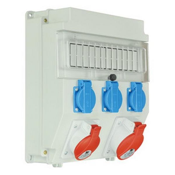 Rozdzielnica R-BOX LUX-320, 1x16A/5P ,1x32A/5p, 3x230V puste okno, IP 44