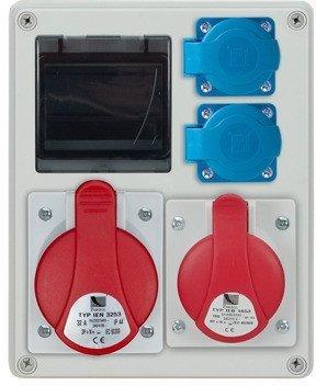Rozdzielnica R-BOX 240R 4S 1x32A/4p, 1x16A/4p, 2x230V, zabezp. B20/3, B16/1, IP44